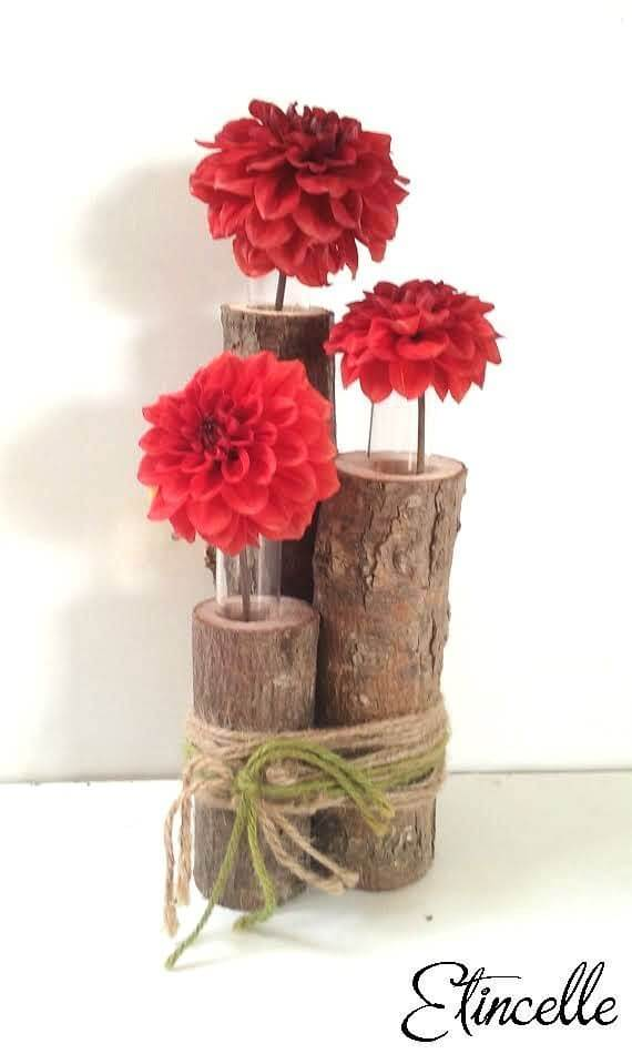 Vase trio bois